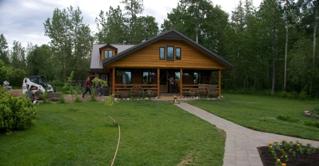 Wieso Ludwig's Log Cabin has been enlarged, renovated ... and relocated.