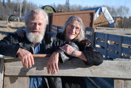 Wiebo and Mamie Ludwig at their farm near Hythe, Alberta. [photo taken by author in November 2011]
