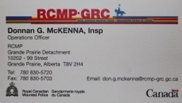 Inspector Don McKenna Business Card