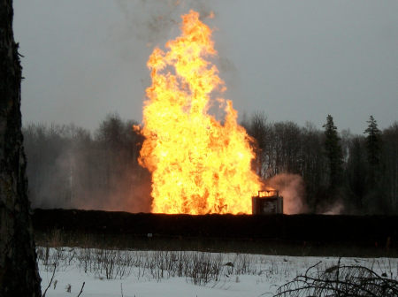 An explosion and fire destroyed a gas well in the area in 2012.