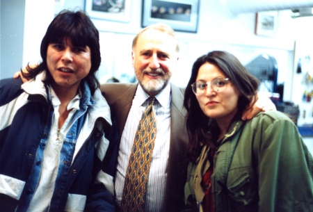Peter Pocklington with two students from Grant MacEwan College in Edmonton. Photo taken in the early 1990s.