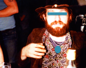 The one and only suspect in Tania's disappearance. Photo taken at a party in Edmonton, early 1980s.