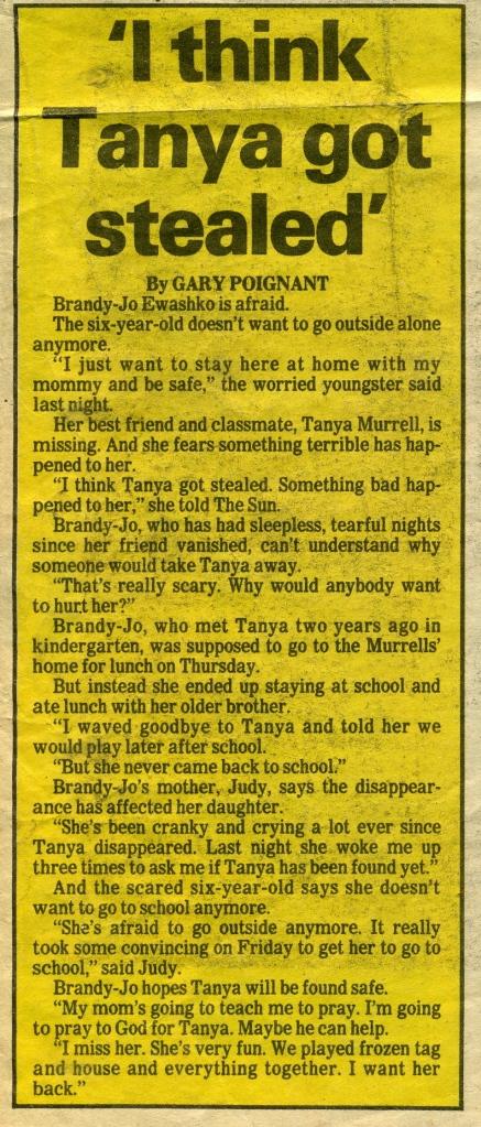 Sun - Tania M. 23 January 1983