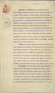 Page 1 of Treaty 8