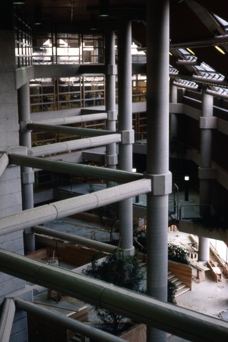 Inside of the Federal Government Building - Photo taken in 1977