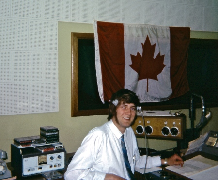 Byron in the main studio at Radio 5AU in Port Augusta, South Australia. No comments about the sideburns please.