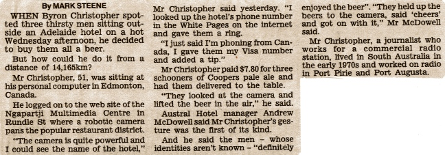 The Advertiser - Saturday, 18 November 2000