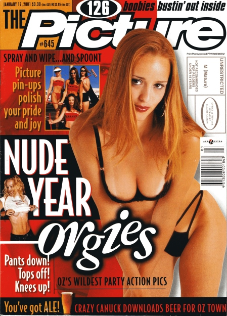 Cover of The Picture magazine 17 January 2001. See banner at bottom.