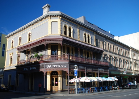 The Austral Hotel - 205 Rundle Street, Adelaide, South Australia.