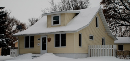 House Richard McNair rented in Minot at time of killing [1987]. Photo taken in December 2010.