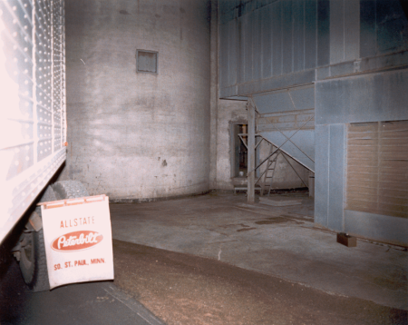 To the right is the side door McNair broke into and where he left the grain elevators. To the immediate left is the transport truck of murder victim Jerry Thies.