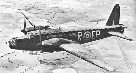 Vickers Wellington Bomber [image courtesy of Wikipedia]