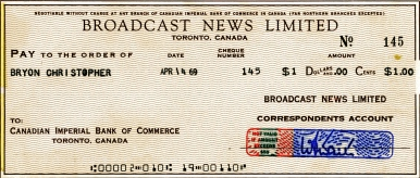 We were paid $1.00 for each story submitted [and used] by Broadcast News. And no, $1 wasn't a lot of money back then.