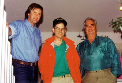 Byron Christopher, Paul McLaughlin and Rick Shalala. Photo taken at Rick's house in Shediak, NB in 1992.