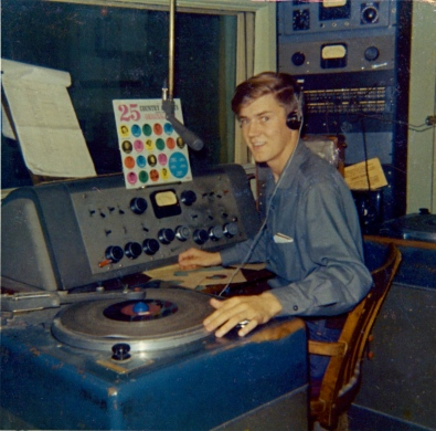The Author at CKMR Radio, Newcastle, NB : 1967