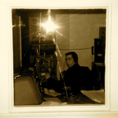 Rick Shalala in the main CKMR Studio - March 1968