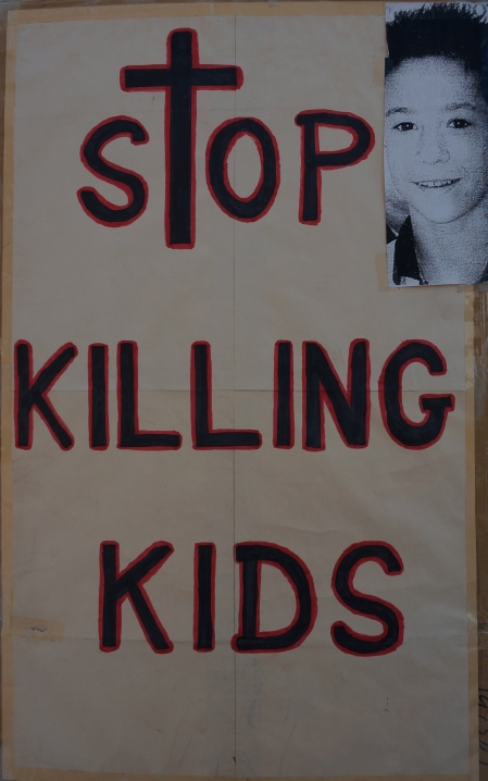 Rob Wells' Protest Placard