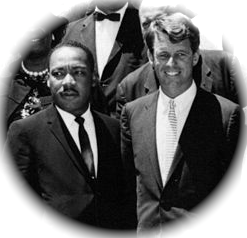 Martin Luther King and Robert Kennedy. The men were murdered just months apart in 1968.