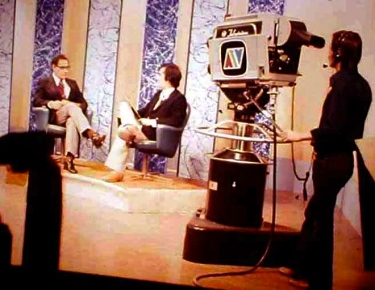 Rick Shalala hosted the ATV supper talk show in Moncton, New Brunswick. Early 1970s.