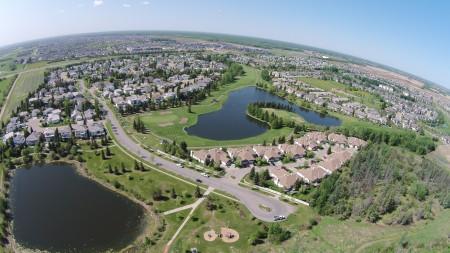 The Lewis Estates subdivision in the west end of Edmonton, Alberta, Canada.