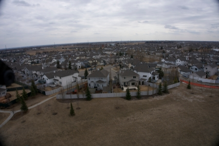An Edmonton subdivision on an overcast day - taken by the Sony NEX-5T camera. Time lapse feature programmed to take a picture every 2 seconds.