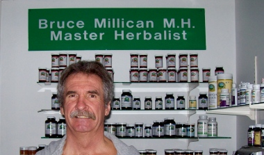 Bruce Millican's middle name should have been Herb as he became a strong advocate of natural medicine. Bruce lives in the Moncton area.