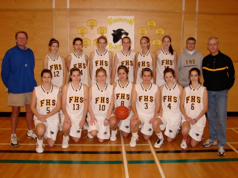 Bill [Bud] Flann, the dude with the grey hoodie, coached the Black Kats Basketball Team at Fredericton [New Brunswick] High.