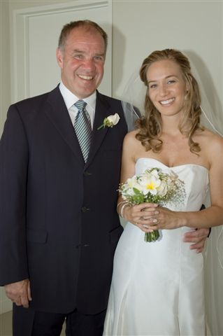 Noonan Maher at the wedding of his daughter
