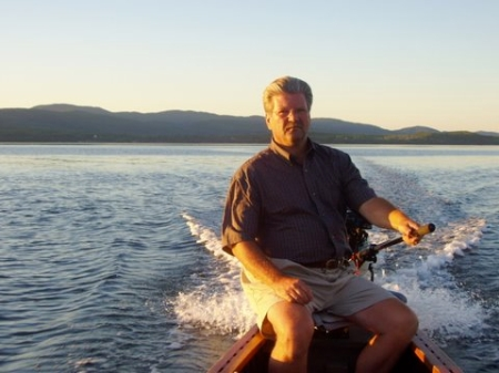 John Woodworth on the Restigouche River in Campbellton