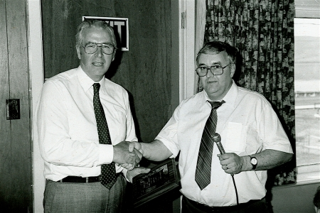 United Church Minister Rev. Vernon Smith and Don Hume at the 1986 Reunion. Vernon Atwood Smith, a native of Newfoundland, died on the 4th of September 2011. His obituary reads, in part,