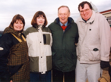 Art Stewart, one of the greatest Speed Demon forwards, with Canadian Prime Minister Jean Chretien. To the left of the PM is Art's daughter, Christine and his wife, Doris.