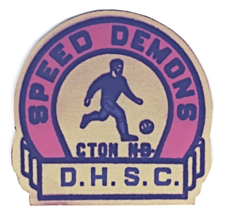 The original Speed Demons crest. D.H.S.C. [Don Hume Soccer Club] was later changed to 'Soccer.'