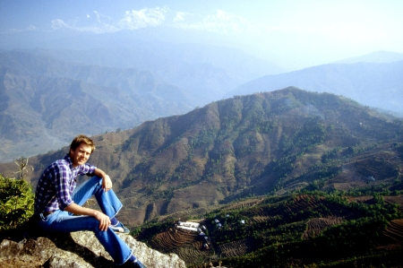 The author on Liglig Mountain, overlooking the Amp Pipal Hospital.