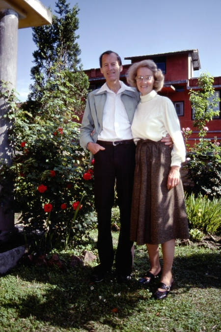 Gerald and Allison Hankins pictured outside their home near Kathmandu in 1981. Allison died several years ago.