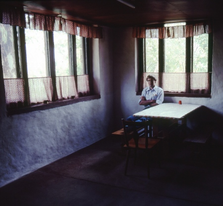 Author at his cabin in Amp Pipal