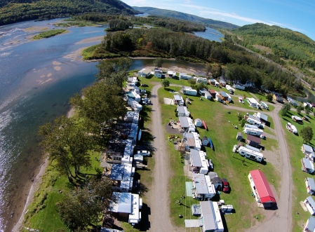 #26: Broadlands, Quebec. Just across the Restigouche River is this summer community.