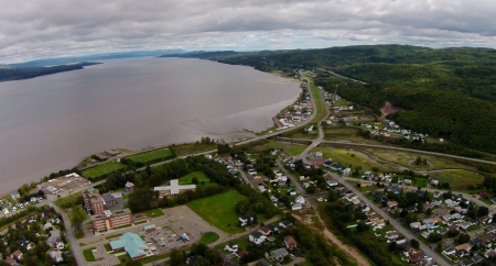 #14: The waters of the Bay of Chaleur slapping up against the East end of Campbellton.