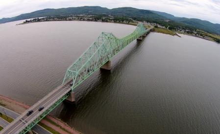 #11: The Charles Van Horne Bridge, which spans the Restigouche River.
