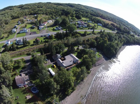 #17: An area east of Campbellton known as McLeod's. The rippling waters belong to the Bay of Chaleur.