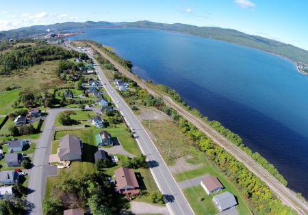 This is similar to the previous shot, except that it shows more of the Restigouche River.