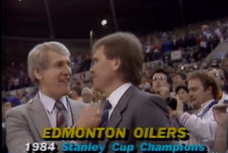 Assistant Coach John Muckler and Coach/architect Glen Sather.