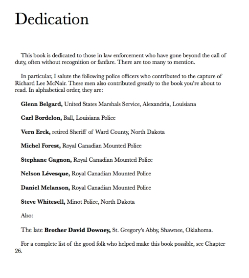 Book Dedication