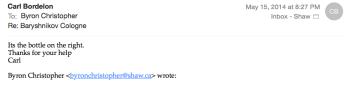 Bordelon email