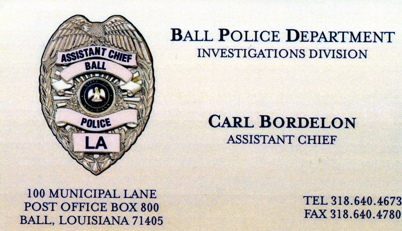 Carl Bordelon's business card.