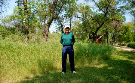 Colin Thatcher shortly after our interview in Moose Jaw, Saskatchewan.