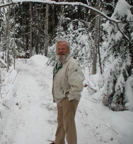 Wiebo Ludwig at Trickle Creek, near Hythe, Alberta in November 2009.