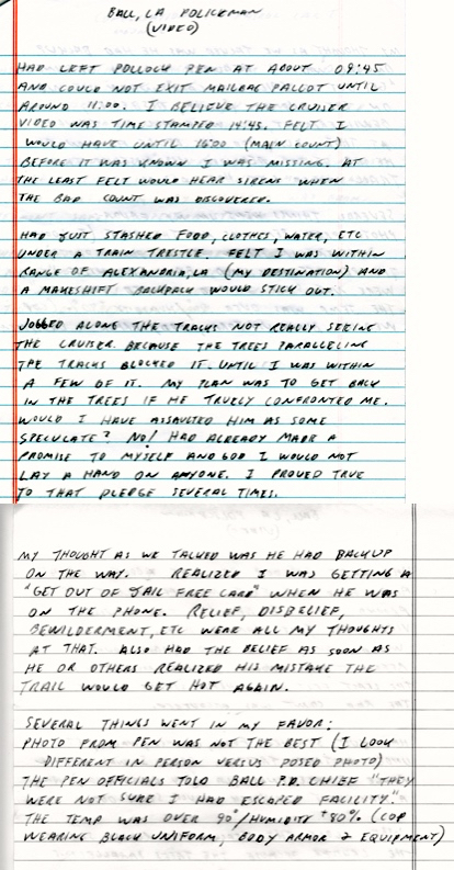 Letter Richard Lee McNair wrote from his prison cell at the Supermax [ADX Florence, Colorado] with his view of the encounter with Officer Bordelon.