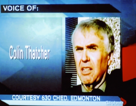 Global TV's coverage of the Thatcher interview.