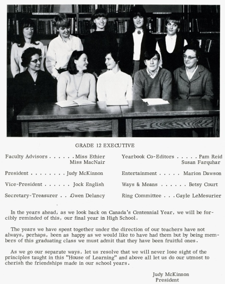 From the 1967 Campbellton High School Yearbook. Click to enlarge.