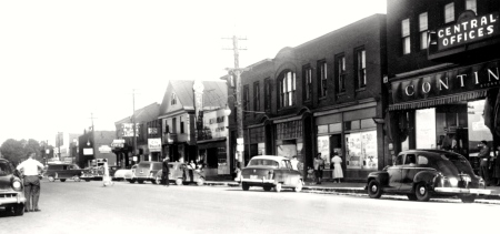 1950s: Roseberry Street, one of two main drags in Campbellton.